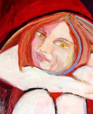 Wall Art - Painting - Woman In Red by Rosalinde Reece