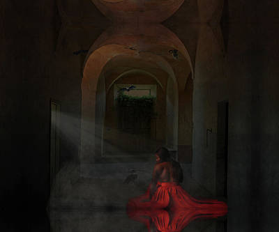 Digital Art - Woman In Red Skirt by Terry Fleckney