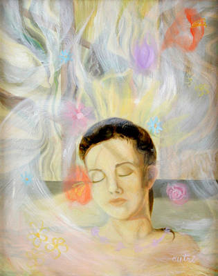 Painting - Woman In Repose by Anne Cameron Cutri