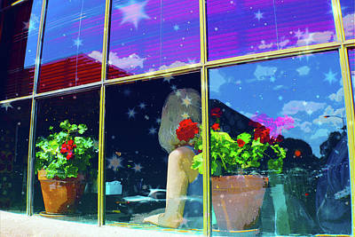 Digital Art - Woman In Santa Fe Window by Susan Vineyard