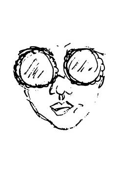 Woman In Sunglasses Art Print