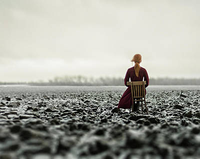 Photograph - Woman In The Field. The Final by Inna Mosina