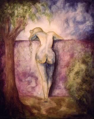 Woman In The Garden 2 Art Print by Halle Treanor