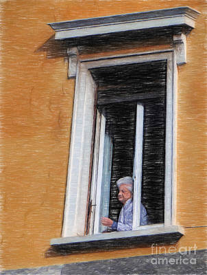 Photograph - Woman In The Window by Sue Melvin