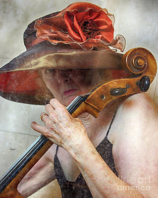 Music Photograph - Woman In Victorian Classic  by Steven Digman