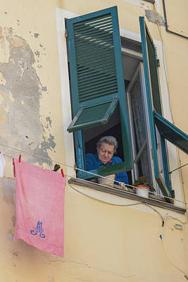 Photograph - Woman In Window Cinque Terre by John McGraw