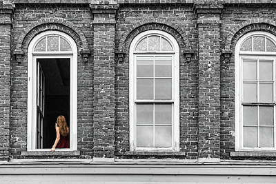 Photograph - Woman In Window by Sharon Popek