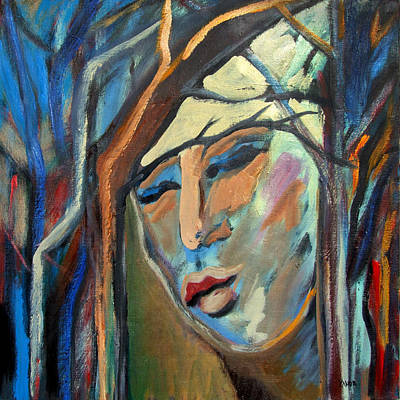 Painting - Woman In Woods by Katt Yanda