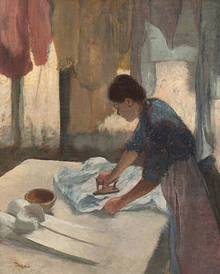 Painting - Woman Ironing by Edgar Degas