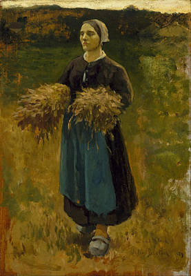 The Gleaners Painting - Woman  by Jules Breton