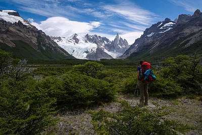 Patagonia Photograph - Woman Looking At Cerro Torre by Blaz Gvajc