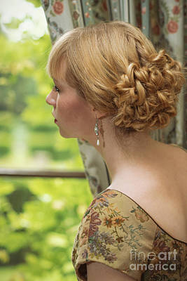Earrings Photograph - Woman Looking Out Of Window by Amanda Elwell
