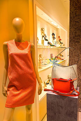 Photograph - Woman Mannequin With Purses 03 by Carlos Diaz
