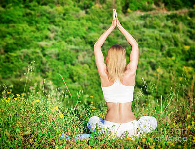 Woman Doing Yoga Photograph - Woman Meditate Outdoors by Anna Om