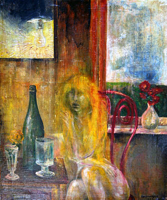 Imagination Painting - Woman Near Window  by Wojtek Kowalski