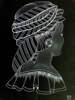Drawing - Woman Of Dakar 2 by Anne Gordon