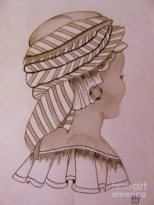 Drawing - Woman Of Dakar by Anne Gordon