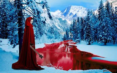 Woman Of Dark Desires Art Print by John Paul Blanchette