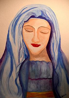 Spiritual Portrait Of Woman Painting - Woman Of Faith by Maria Urso
