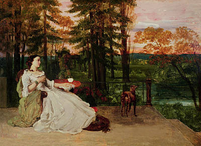 Tea Garden Painting - Woman Of Frankfurt by Gustave Courbet