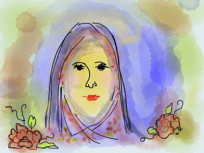 Mother Mary Digital Art - Woman Of Grace by Laurel Foster