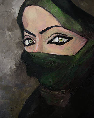 Beautiful Hijabs Painting - Woman Of The Gulf by Mark Alexander
