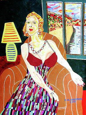 Painting -  Woman Of The Oregon Coast by David Skrypnyk