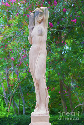 Photograph - Woman Of The Trees- Digital Painting by Kathleen K Parker
