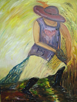 Painting - Woman Of Wheat by Randolph Gatling