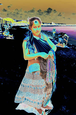 Photograph - Woman On Beach With Baby by Susan Garrett
