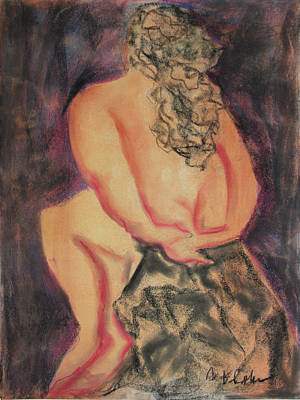 Painting - Woman On Rock by Carol Schindelheim