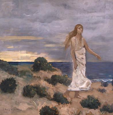 Painting - Woman On The Beach by Pierre Puvis de Chavannes