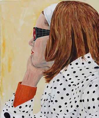 Polkadots Painting - Woman On The Boat by Kevin Callahan