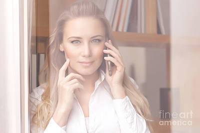 Photograph - Woman On The Phone by Anna Om