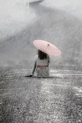 Raining Photograph - Woman On The Street by Joana Kruse