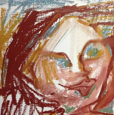 Wall Art - Painting - Woman Out Of Present Time by Rosalinde Reece