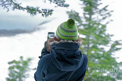 Photograph - Woman Photographing Nature by Anna Om