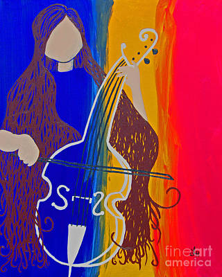 Woman Playing Cello Original by Laressa Herrell