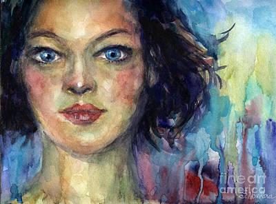 Russian Girl Wall Art - Painting - Woman  Portrait 2 by Svetlana Novikova