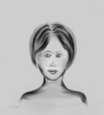 Digital Art - French Woman 4 by Frank Bright