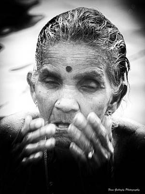 Photograph - Woman Praying In The Ganges by Fran Gallogly