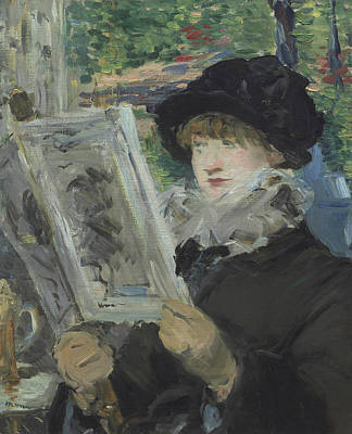 Woman Reading Art Print by Edouard Manet