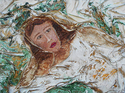 Mixed Media - Woman Reclining by Angela Stout