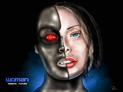 Digital Art - Woman - Robotic Future by R Across