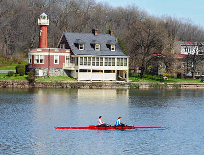 Photograph - Woman Rowers In Philadelphia by Bill Cannon