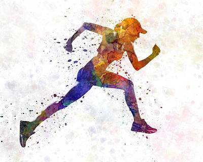 Woman Runner Jogger Running Art Print by Pablo Romero