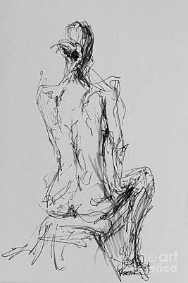 Woman Seated Art Print