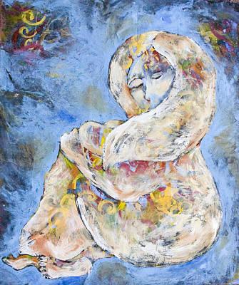 Woman Seeking Solace Art Print by Sara Zimmerman