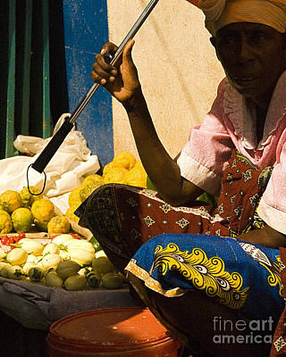 Photograph - Woman Selling by Robert  Suggs