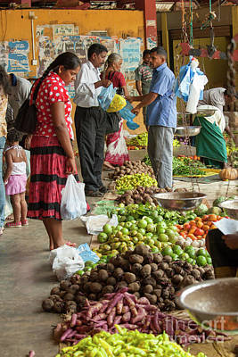 Photograph - Woman Shopping At Market In Sri Lanka by Patricia Hofmeester